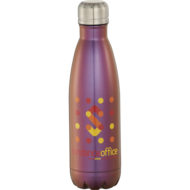 Promotional Products - Imprinted Water Bottles - Custom Promotional Items - Stainless Steel Water Bottle - Copper Vacuum Insulated Iridescent Water Bottle 17oz