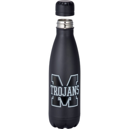 Copper Vaccum Insulated Water Bottle 17oz-PRP1624-74-Black-Cap