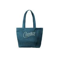 Custom Logo Corduroy Birdie Tote Bag dark green