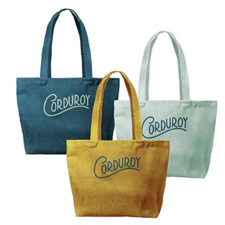 Custom Logo Corduroy Birdie Tote Bag Group