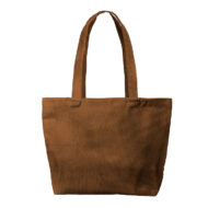 Custom logo Corduroy Birdie Tote Bag Group Brown