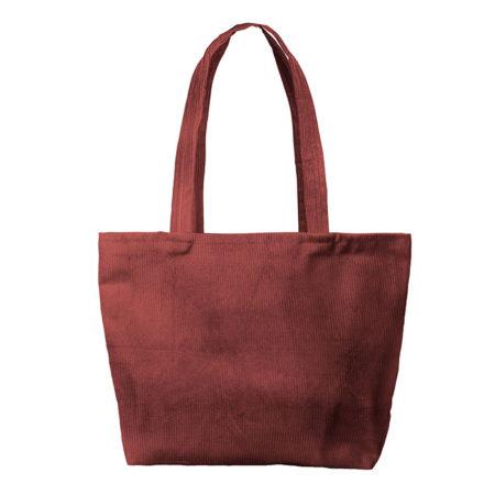 Custom logo Corduroy Birdie Tote Bag Group Burgundy