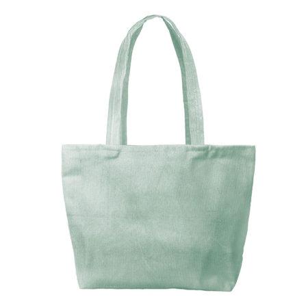 Custom logo Corduroy Birdie Tote Bag Group Mint