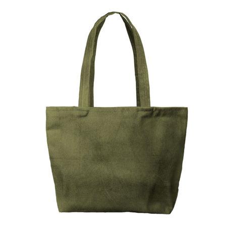 Custom logo Corduroy Birdie Tote Bag Group Olive