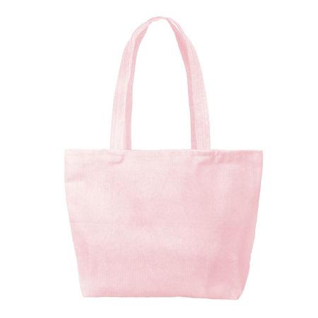 Custom logo Corduroy Birdie Tote Bag Group Pink
