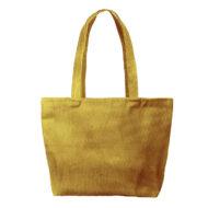 Custom logo Corduroy Birdie Tote Bag Group Yellow