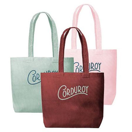 Custom logo Corduroy Daily Grind Tote Bag group