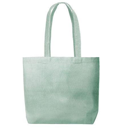 Custom logo Corduroy Daily Grind Tote Bag Mint