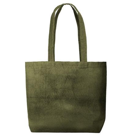 Custom logo Corduroy Daily Grind Tote Bag Olive