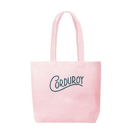 Custom logo Corduroy Daily Grind Tote Bag Pink