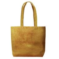 Custom logo Corduroy Daily Grind Tote Bag Yellow