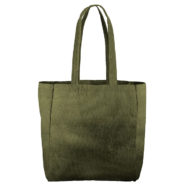 Custom logo Corduroy Grocery Tote Bag Olive