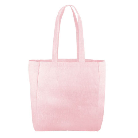 Custom logo Corduroy Grocery Tote Bag Pink