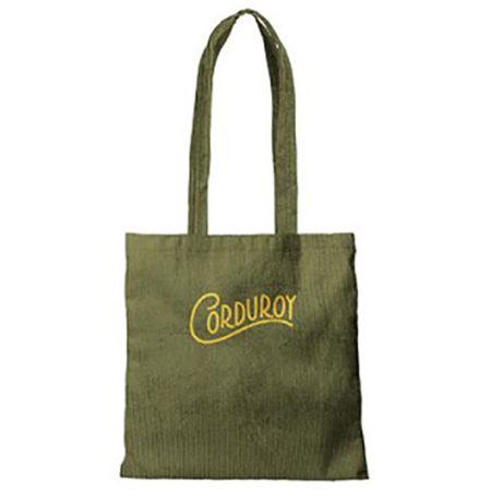 Custom logo Corduroy-Main-Squeeze-Tote-Bag-1