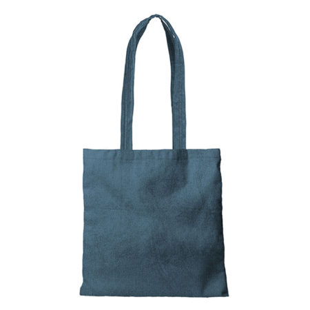 Custom logo Corduroy Main Squeeze Tote Bag Dark-Green