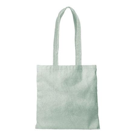 Custom logo Corduroy Main Squeeze Tote Bag Mint