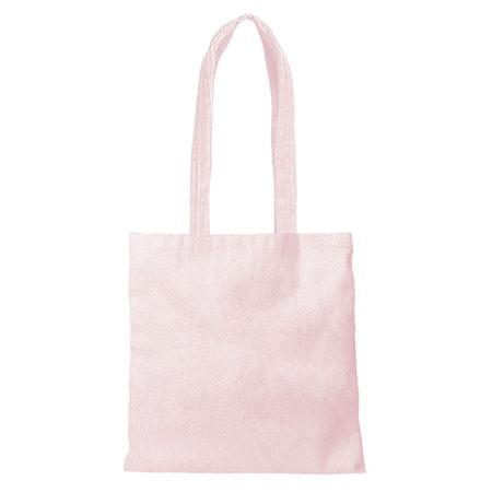 Custom logo Corduroy Main Squeeze Tote Bag Pink