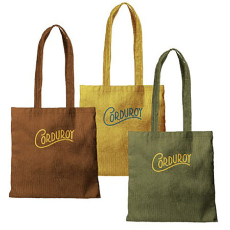 Custom logo Corduroy Main Squeeze Tote Bag group