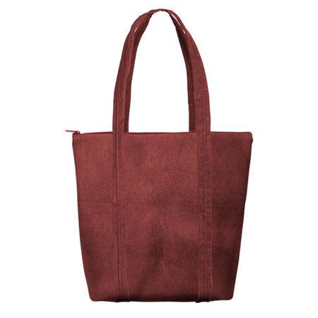 Custom logo Corduroy Twinkles Tote Bag Burgundy