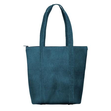 Custom logo Corduroy Twinkles Tote Bag Dark-Green