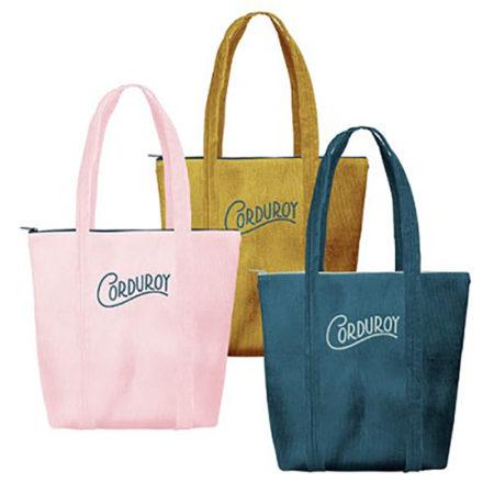 Custom logo Corduroy Twinkles Tote Bag Group