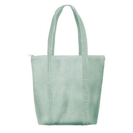 Custom logo Corduroy Twinkles Tote Bag Mint