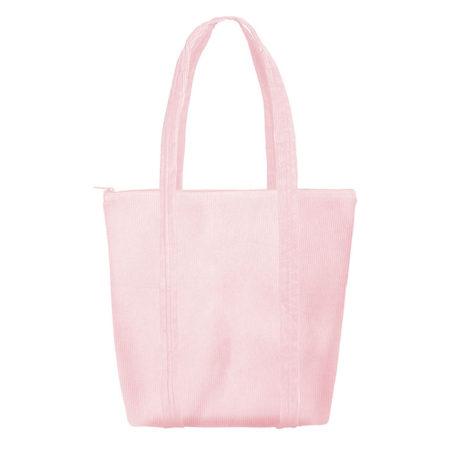 Custom logo Corduroy Twinkles Tote Bag Pink