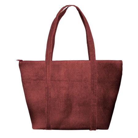 Custom logo Corduroy Weekender Tote Bag Burgundy