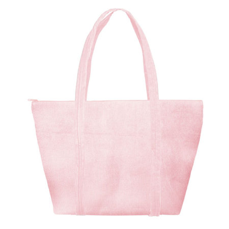 Custom logo Corduroy Weekender Tote Bag Pink