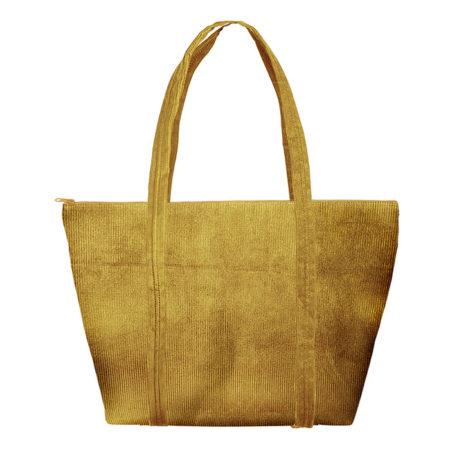 Custom logo Corduroy Weekender Tote Bag Yellow