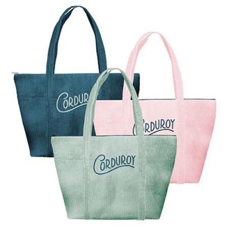Custom logo Corduroy Weekender Tote Bag group