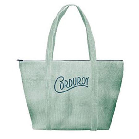 Custom logo Corduroy-Weekender-Tote-Bag-mint