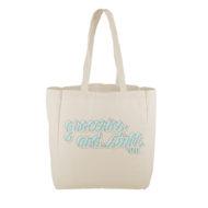 Custom Logo Cotton Grocery Tote Bag
