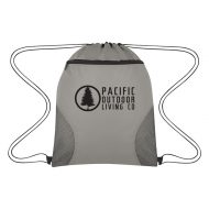 Custom Logo Promotional Courtside Sports Drawstring Bag