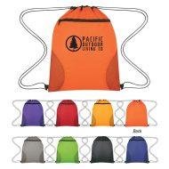 Custom Logo Promotional Courtside Sports Drawstring Bag