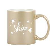 Custom imprinted Metallic Finish Mug