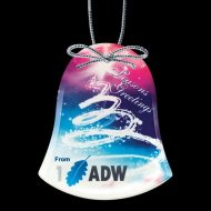 Promotional Custom Logo Crystal Holiday Ornaments - Full Color Imprint