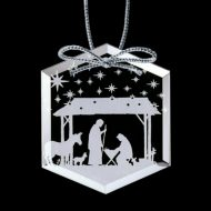 Promotional Custom Logo - Crystal Starfire Holiday Ornament – Deep Etch