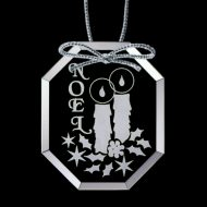 Promotional Custom Logo - Crystal Starfire Holiday Ornament – Deep Etch