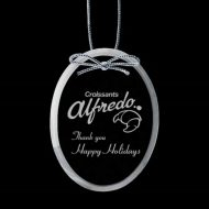 Promotional Custom Logo Crystal Starfire Holiday Ornaments - Deep Etch