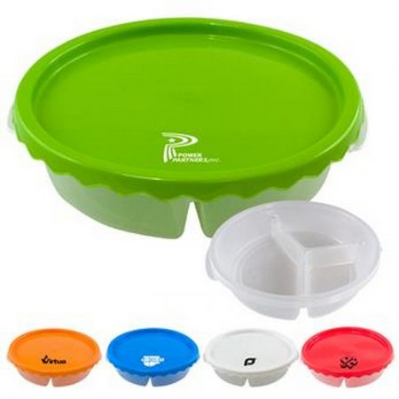 Promotional Custom Logo Curvy Round Lunch Container