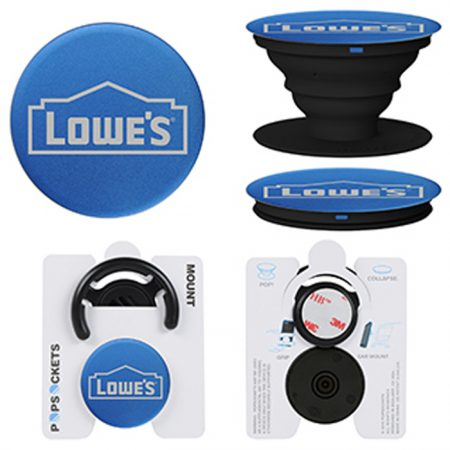 Promotional Products - Custom Aluminum PopSockets® Mount Combo Phone Grip with Laser Engraving