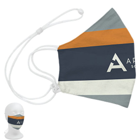 Custom Logo Cotton 3-Ply Adjustable Face Mask