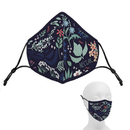 Custom Adjustable Full Color Cotton Face Mask Printed with Logo