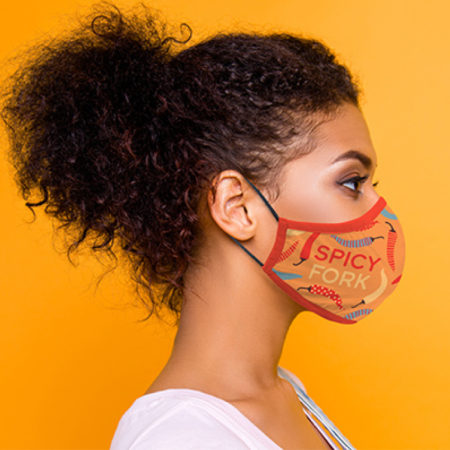 Custom Full Color Cotton Face Mask with Logo Full Color
