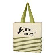 Promotional Custom Logo Dash Jute Tote Bag