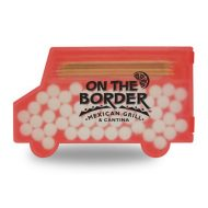 Promotional Custom Logo Delivery Truck Shaped Pick and Mint