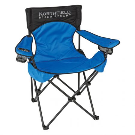 Promotional Custom Logo Deluxe Padded Folding Chair With Carrying Bag