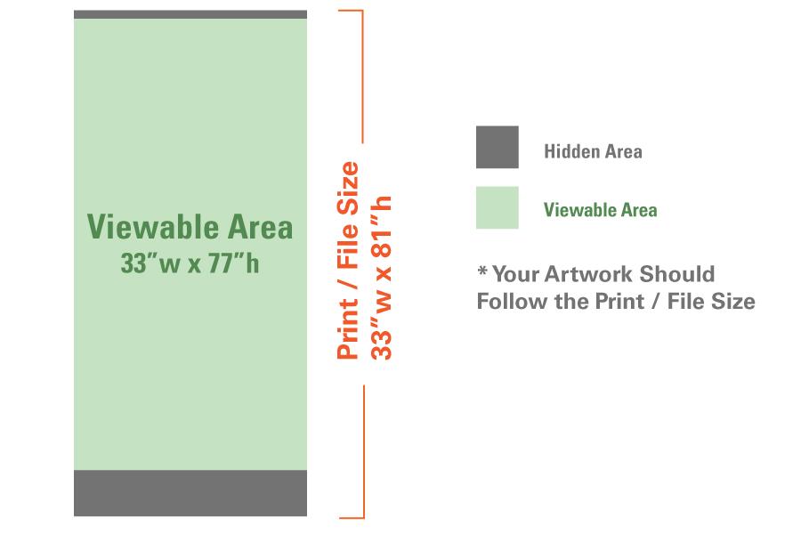 Standard Retractable Banner X Progress Promotional - Retractable banner template