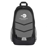 Promotional Custom Logo Diamond Lattice Accent Backpack